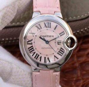 Suisses montres de réplication en ligne sont moelleuses de couleur rose.
