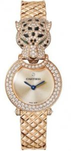 Fausses montres en ligne sont à la mode en or rose.